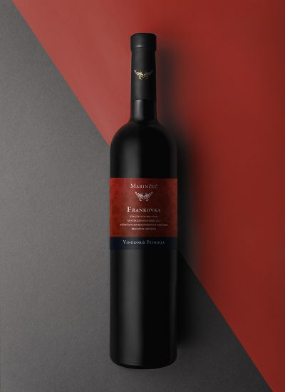 Photographed bottle in a studio environment with two different label sizes. Perfect to showcase your wine label design.